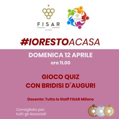 #iorestoacasa Gioco quiz con brindisi d'auguri