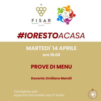 #iorestoacasa Prove di menù