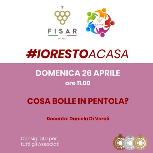 #iorestoacasa Cosa bolle in pentola