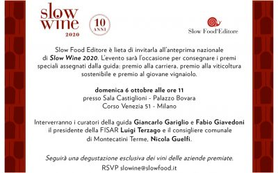 Anteprima nazionale di Slow Wine 2020