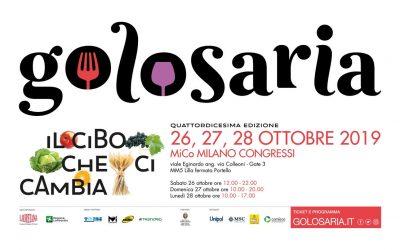 Ingresso gratuito a Golosaria per gli Associati FISAR Milano: Sommelier presenti!