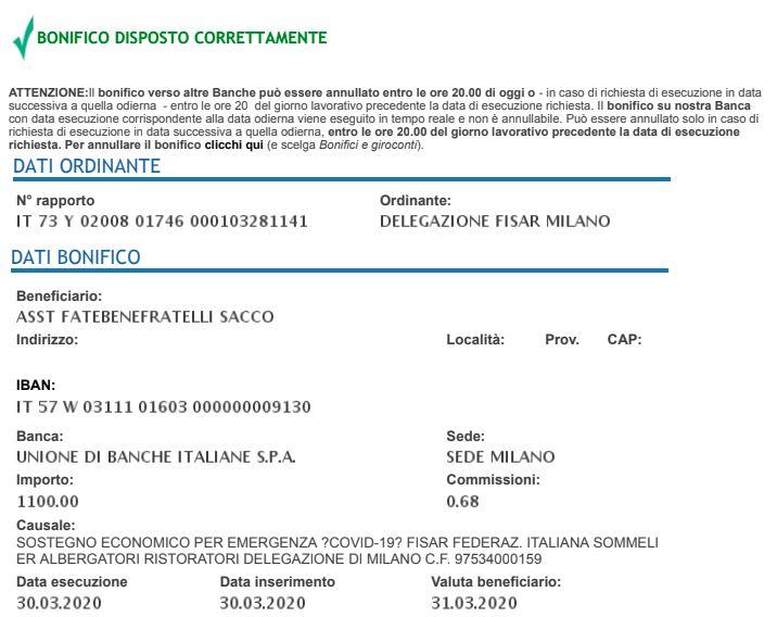 Un programma di cinque attività benefiche promosso da FISAR Milano