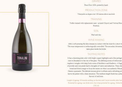 Aggiornamento schede tecniche dei vini